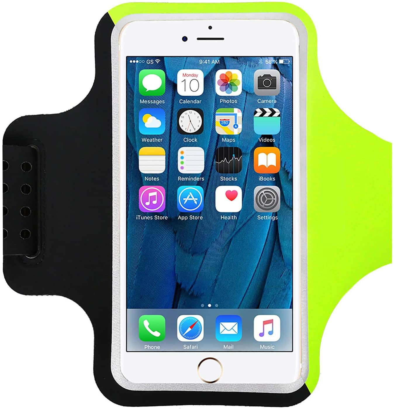 HAISSKY Sweat Resistant Armband, Cell Phone Armband Case Fit iPhone 12/11/Xs Max/X/8 Plus/7 Plus, Galaxy S8/S8 Plus Phones up to 6.0'' with Safety Reflective Strips, Idear for Running Sports Biking