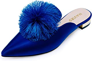 satin mule slippers