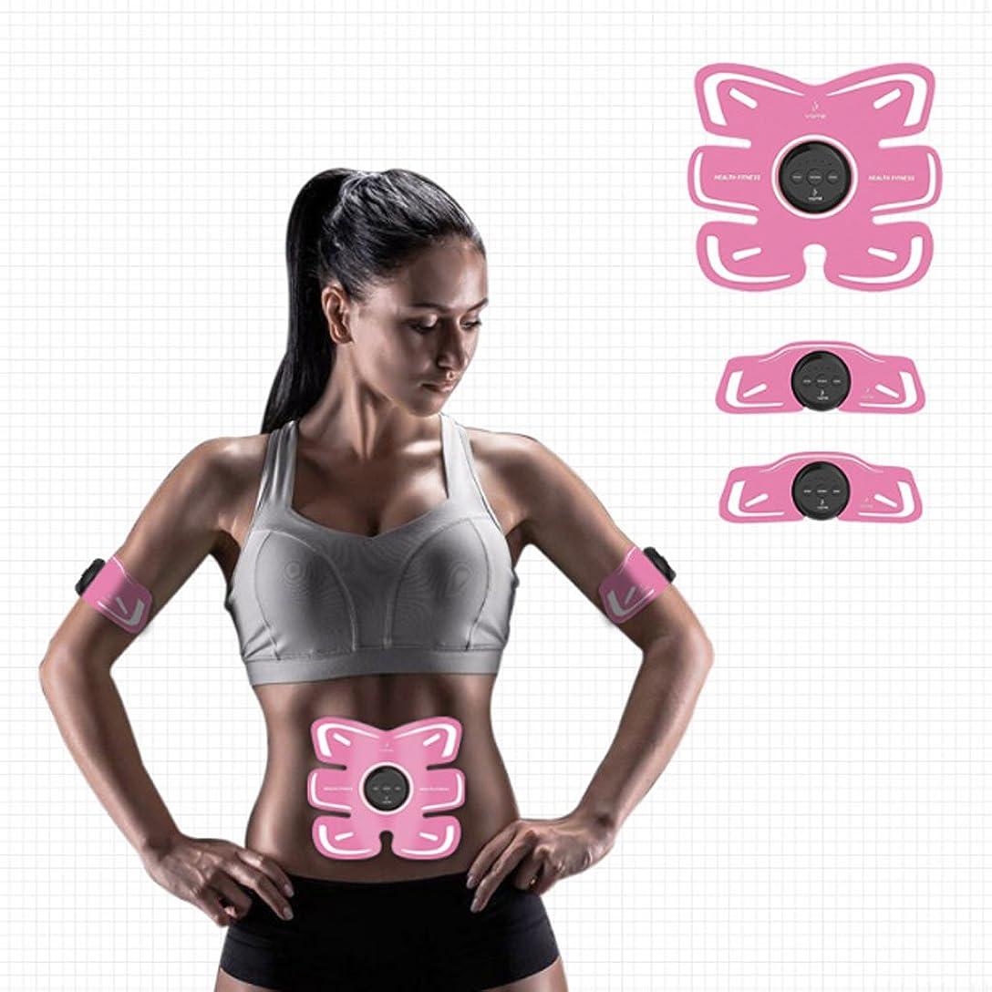 一月縞模様の穀物EMS 腹筋ベルト 腹部調整ベルト、男性の腹部/脚/腕の強さのレベル