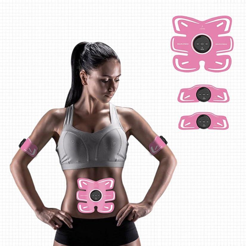頑丈預言者間欠EMS 腹筋ベルト 腹部調整ベルト、男性の腹部/脚/腕の強さのレベル
