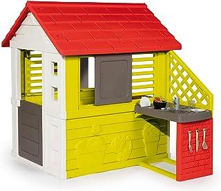 Smoby-Casa infantil Nature II con cocina y accesorios (81071