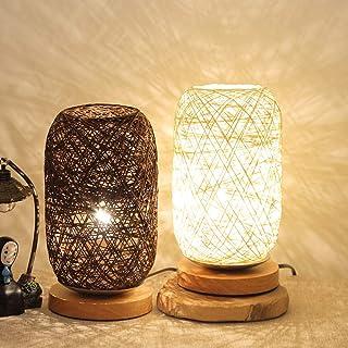 Table Lamp,Twine Ball Lights Table Lamp, Room Home Art Decor Desk Light