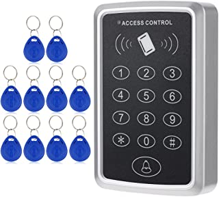 KKmoon RFIDカード パスワードアクセス制御 125KHz アクセスコントローラ ドアロックアクセスコントロール システム+ 10個IDキーフォブ キーパッド