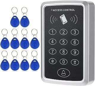 KKmoon RFIDカード 125KHz アクセスコントローラ ドアロックアクセスコントロール システム+ 10個IDキーフォブ キーパッド