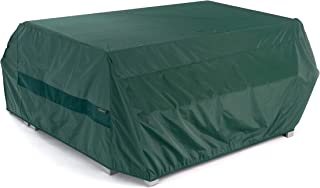Covermates – Picnic Table Cover – 76W x 62D x 32H – Classic – 12-Gauge Vinyl - Polyester Lining - Elastic Hem - 2 YR Warranty – Weather Resistant - Green