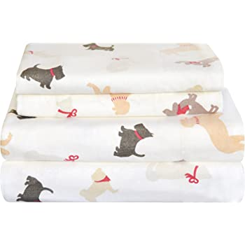 Autumn Deer Safah International Inc FP-K-Deer Pointehaven Heavy Weight Flannel Sheet Set King
