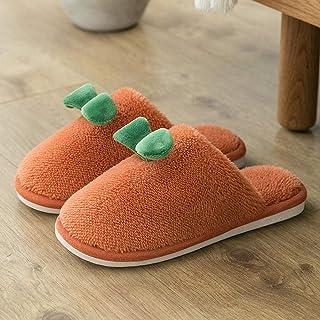 B/H Cálido Forro de Felpa Pantuflas Alta Densidad,Lindas Pantuflas de Felpa para niñas en Invierno, Zapatos de algodón cál...