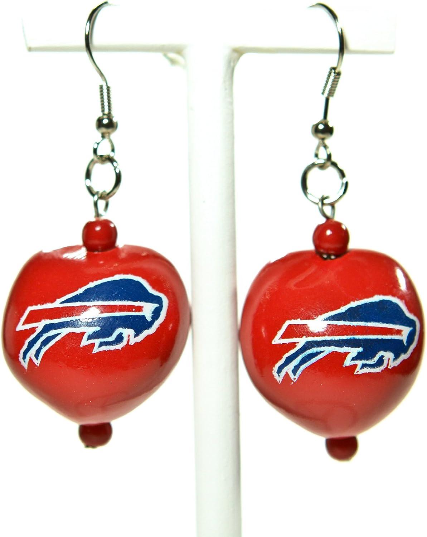 NFL Buffalo Bills Go Nuts Kukui Nut Earrings