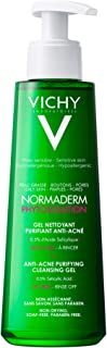 Vichy Anti-Acne Facial Cleanser, Normaderm Purifying Cleansing Gel for Acne-Prone Skin, with Salicylic Acid, Oil-free and ...