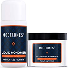Modelones Acrylic Powder Clear Acrylic Powder Kit 4 oz + Professional Liquid Monomer 4 oz..