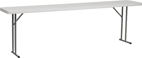 Flash Furniture 18 W X 96 L Granite White Plastic Folding Training Table