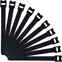 Reusable Cable Ties, YanYoung 25 Pack 7.9 Inch Fastening Cable Straps Adjustable Multi-Purpose Hook and Loop Cord Ties, Ca...
