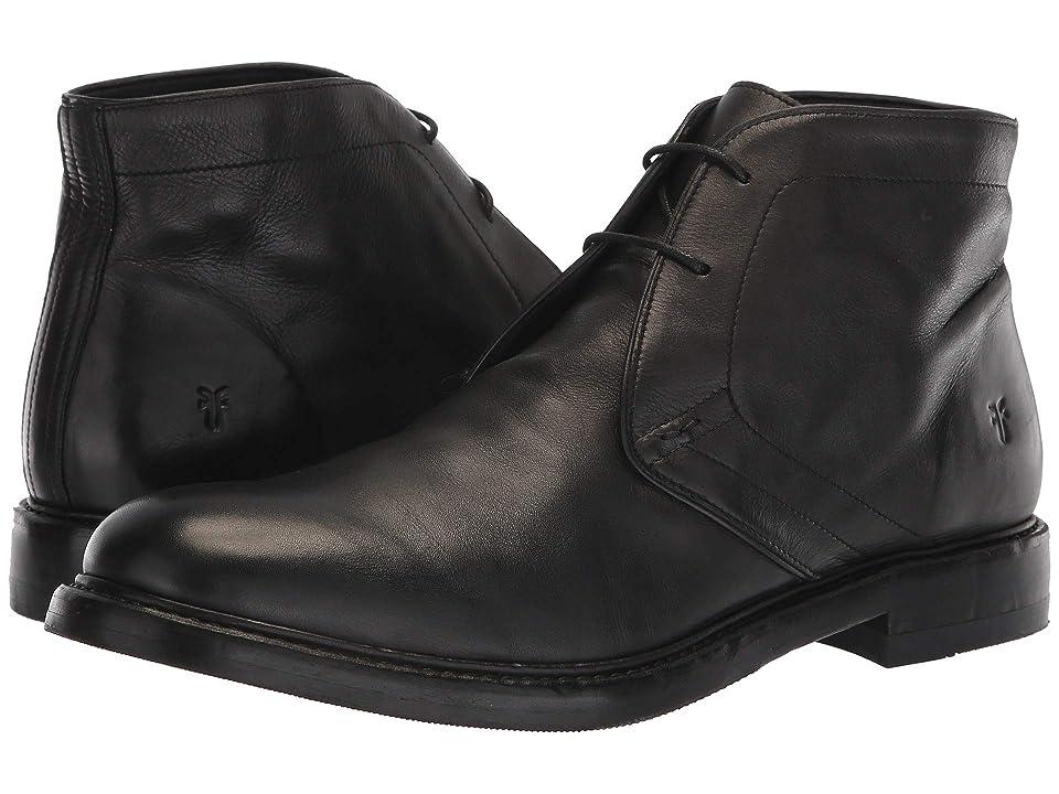Frye Murray Chukka (Black Washed Dip-Dye Leather) Men