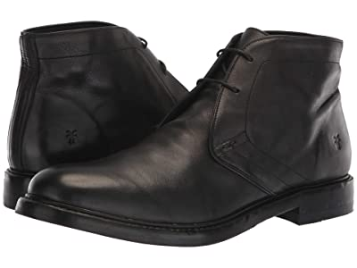 Frye Murray Chukka (Black Washed Dip-Dye Leather) Men