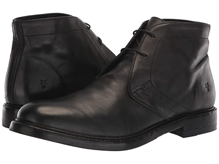 Mens Retro Shoes | Vintage Shoes & Boots Frye Murray Chukka Black Washed Dip-Dye Leather Mens Lace-up Boots $151.38 AT vintagedancer.com