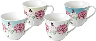 Royal Albert Miranda Kerr Set of 4 Mugs, Porcelain, Multi-Colour, 13.2 x 10.4 x 9 cm
