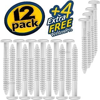Window Shutters Panel Peg Loks 3 inch 12 Pack (White) Buy One Bag of 12 Loks and Get 4 Extra Shutter Peg Loks Free