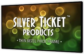 STT-169120 Silver Ticket Thin Bezel 16:9 Aspect Ratio 4K Ultra HD Ready HDTV (6 Piece Fixed Frame) Projector Screen (16:9, 120