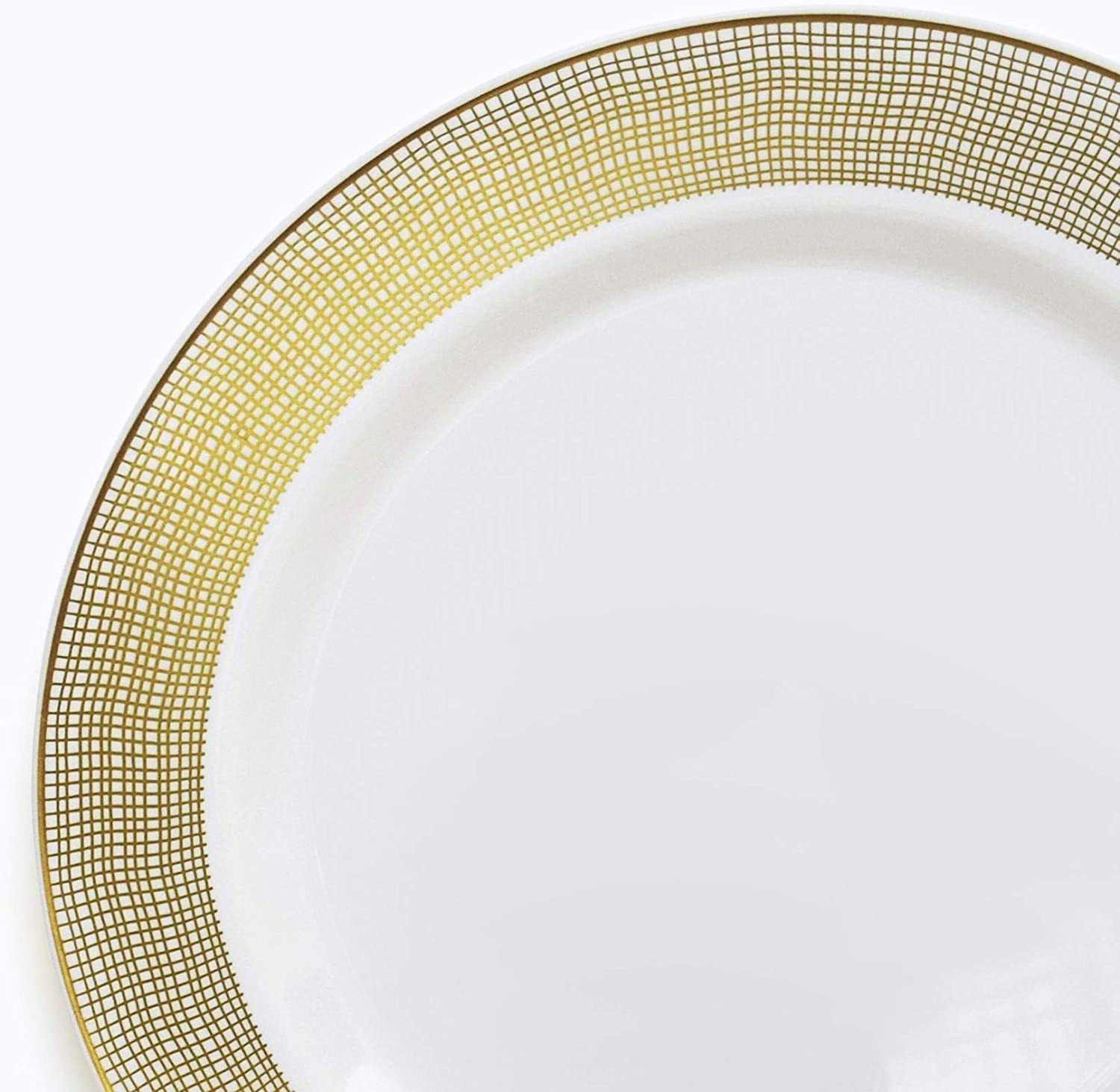 Celebration White /& Gold OCCASIONS  40 pcs Chargers pack Wedding Party 12 Disposable Plastic Charger Plates//Chargers