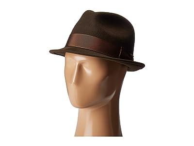 Country Gentleman Floyd Traditional Wool Fedora Hat (Brown) Caps