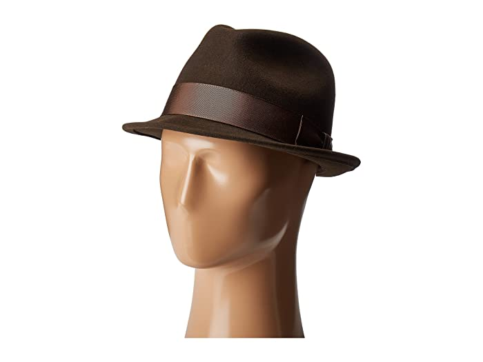 Country Gentleman Floyd Traditional Wool Fedora Hat (Brown) Caps