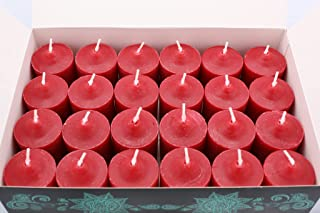 Enlightened Ambience 24 TRADITIONAL RED MULBERRY HIGHLY SCENTED VOTIVE CANDLES LONG-BURNING
