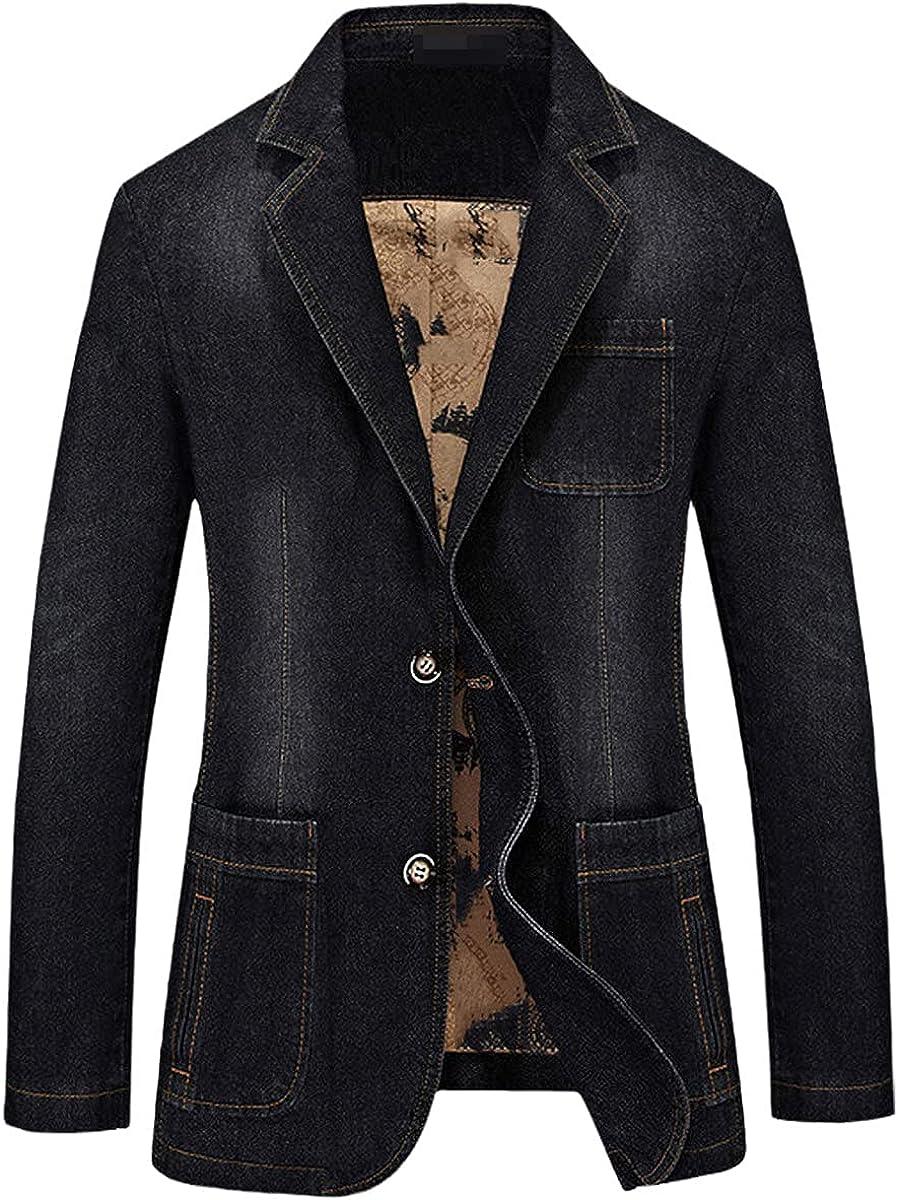 DFLYHLH Suit Jacket Casual Denim Jacket Men's Jeans Suit Autumn Denim Jacket