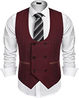 Best mens double breasted suit vest Reviews