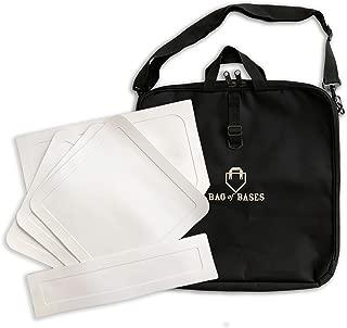 Throw Down Bases with Custom Carrying Bag - Perfect for Baseball,  Teeball,  Softball,  Kickball,  Kids,  Backyard,  Practice and School
