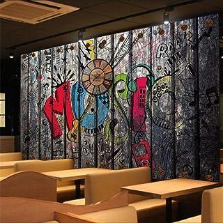 XUNZHAOYH Mural 3D Pared,Papel Tapiz Personalizado 3D Murales Retro Nostálgico Antecedentes Graffiti Pintura Mural Salón Habitación Restaurante Tapiz,250(W) X160Cm(H)(8.2X5.3) Ft