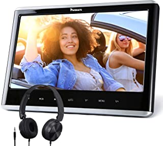 "NAVISKAUTO 12"" Car DVD Player with HDMI Input Headphone Mounting Bracket HD Screen Support Sync Screen Last Memory Region ..."