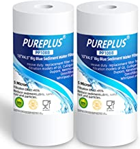 """PUREPLUS 5 Micron 10"""" x 4.5"""" Whole House Big Blue Sediment Water Filter Replacement Cartridge for Culligan RFC-BBSA, W15-P..."""