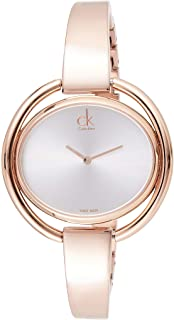 Calvin Klein Womens Quartz Wrist Watch, Analog and Stainless Steel- K4F2N616