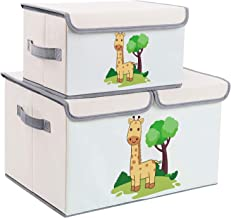 DIMJ Toy Chest with Lid, Large Kids Toy Storage Box Decorative Toy Organizers Fabric Storage Bins with Handles for Boys, G...