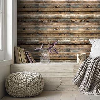 ورق جدران Homiya ذاتي اللصق من الخشب الحبيبي غرفة النوم ديكور ورق جدران 45 * 600 سم مقاوم للماء ، ذاتي اللصق ، مقاوم للرطو...