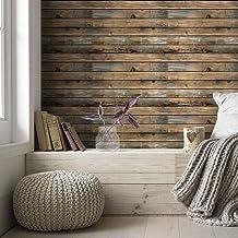 ورق حائط ذاتي اللصق بنمط الياف الخشب من هوميا، مصنوع من بلاستيك بي في سي 600 × 45 سم، لغرفة النوم والمعيشة والحائط ولتجديد...