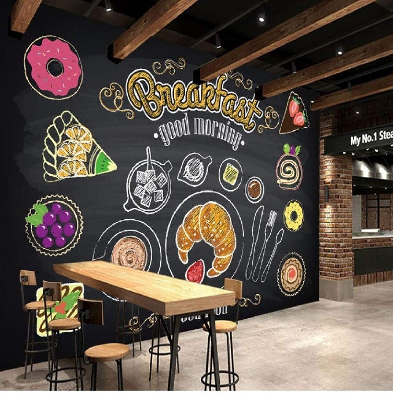 ordenar ahora Pbbzl Pbbzl Pbbzl Mural Personalizado 3D Pintado A Mano Desayuno Pan Café Mural Restaurante Personalizado Restaurante De Comida Rápida Papel Tapiz Mural-200X140Cm  ventas en línea de venta