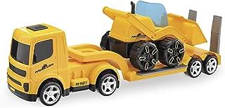Caminhão Mamute Prancha Carregadeira, Usual Brinquedos, Amarelo