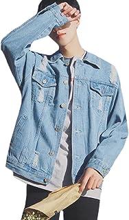 領事館ツール離れてAngelSpace 男性の基本的な古典的な春夏ホールジーンズジャケット
