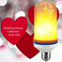Marclie LED Flame Effect Light Bulb - Simulated Decorative Light Atmosphere - E26 LED Flickering Flame Light Bulbs - 105pcs 2835 LED Beads - Flaming Light Bulb for Home, Bar, Restaurant, Hotel,Outdoor