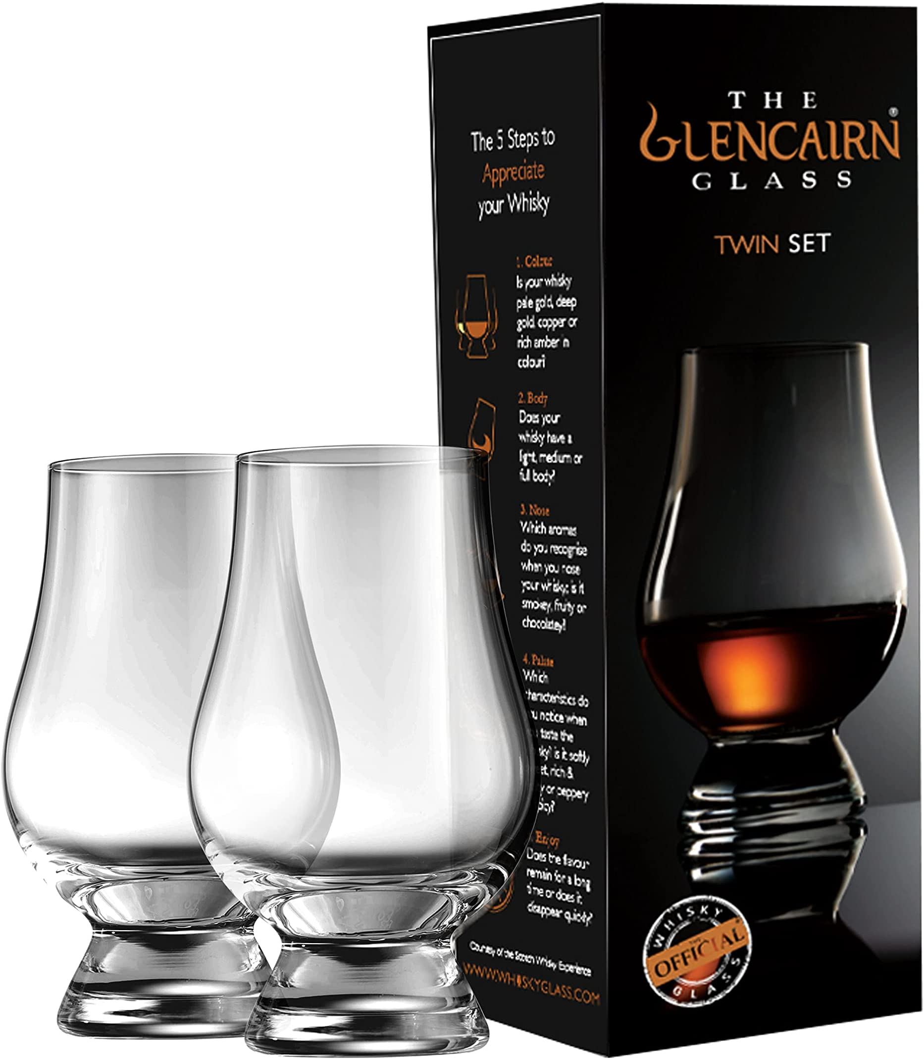 Glencairn Whisky Glass in Gift Carton, Set of 2 in Twin Gift Carton