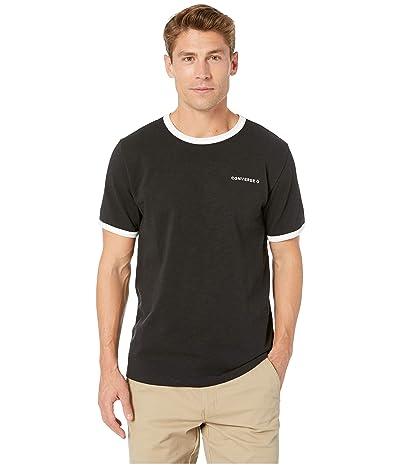 Converse Slub Ringer Short Sleeve Tee (Black) Men