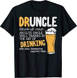 Druncle Funny Drinking Elite Uncle Dictionary Christmas Gift T-Shirt
