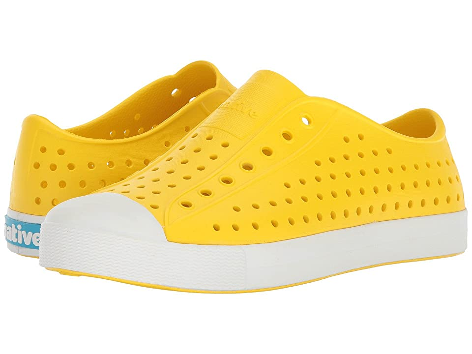 Native Kids Shoes Jefferson (Little Kid/Big Kid) (Crayon Yellow/Shell White) Kid