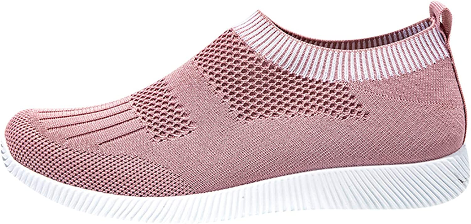 AODONG Walking Shoes for Women Slip Ons,2021 Fashion Casual Flat Shoes Comfortable Breathable Sneakers for Women