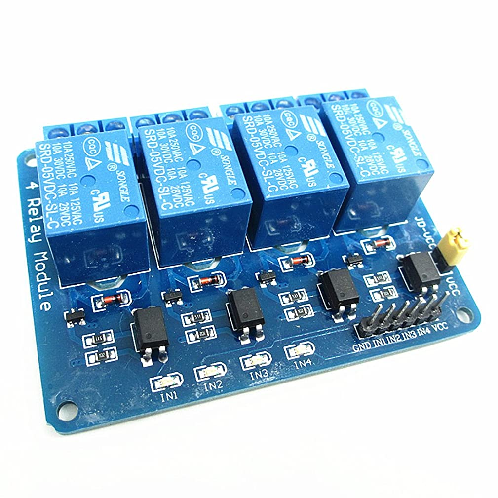 New 4 Channel 5V Relay Opto-couple For ARM AVR DSP Arduino,5V 4-Channel Relay interface board