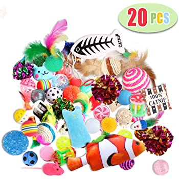 Highland Farms Select Cat Toys Variety Pack for Kitty 20 Pieces