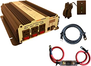 VertaMax Modified 1500 Watt (3000W Surge) 12V Power Inverter DC to AC Car, Solar, RV, Back Up Power (Cables + Remote Switch + ANL Fuse Included)