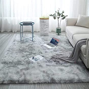Shag Loomed Area Rug for Kids Play Room Warm Soft Faux Fur Luxury Rug Plush Throw Rugs High Pile Rug Handmade Knitted Nursery Decoration Rugs Baby Care Crawling Carpet