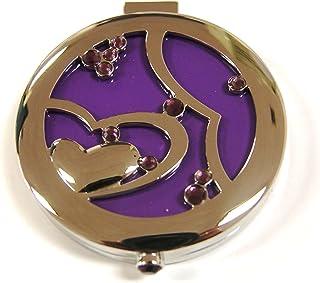 Rucci Compact Mirror, Inter-Locking Heart